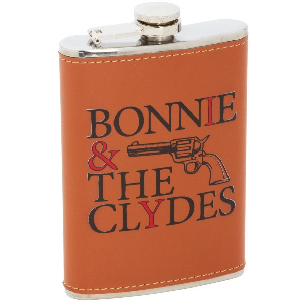8oz Stainless Steel Flask with Faux Leather Wrap
