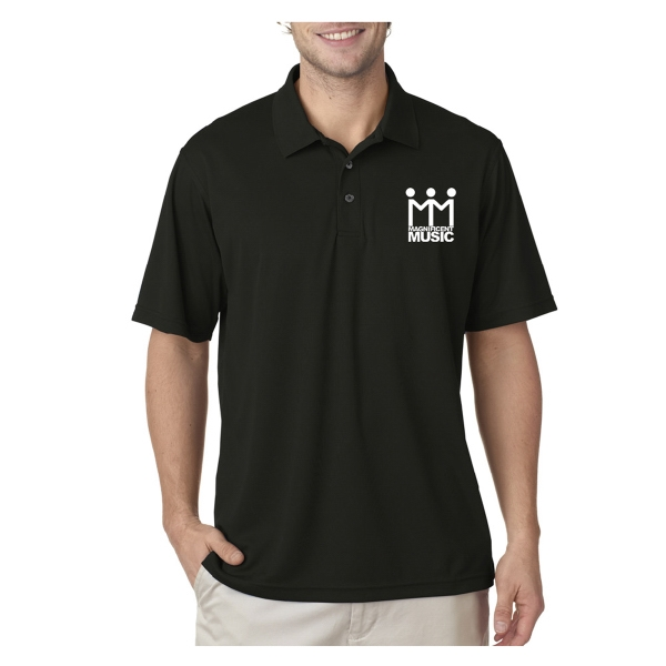 UltraClub (R) Men's Cool & Dry Mesh Pique Polo Shirt