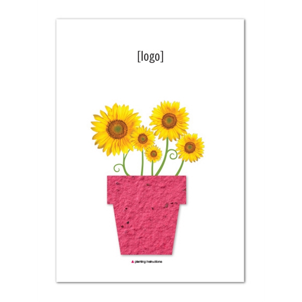 5x7 Postcard with Seed Paper Shape- Stock Designs