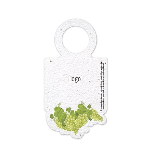Seed Paper Wine Bottle Necker Grapes Stock Designs