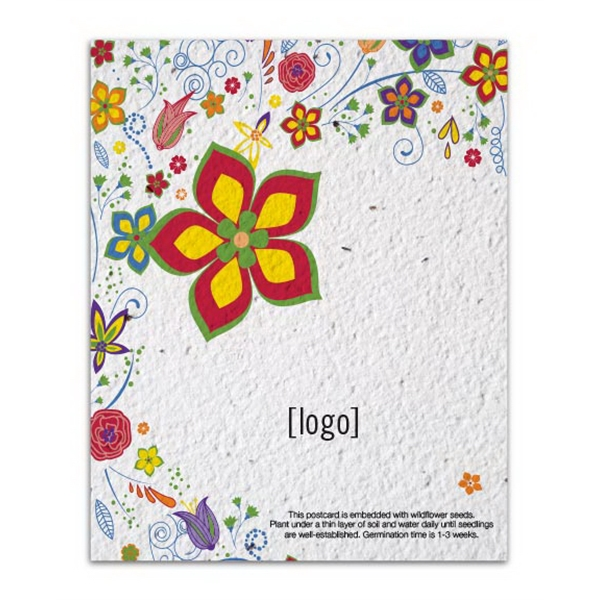Seed paper postcard Easy Way Stock Designs