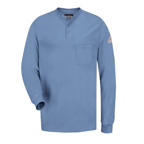 Long Sleeve Tagless Henley Shirt