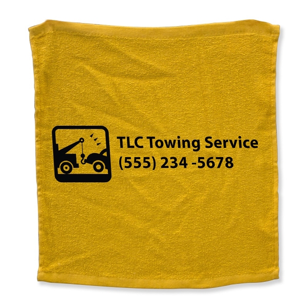 "15"" x 15"" Rally Terry Hemmed Towel"