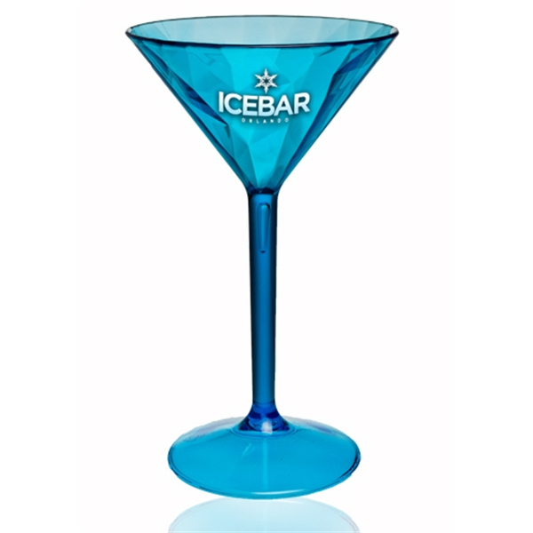7 oz Diamond Cut Plastic Martini Glasses