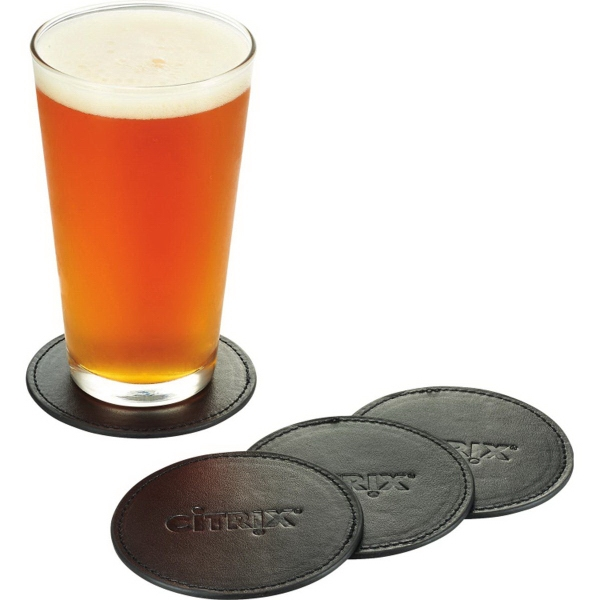 Premier Leather Coaster Set