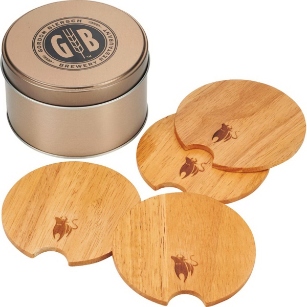 Bullware Wood Coaster Set