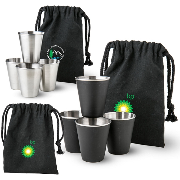 Shots in a Bag Shot Glass Gift Set