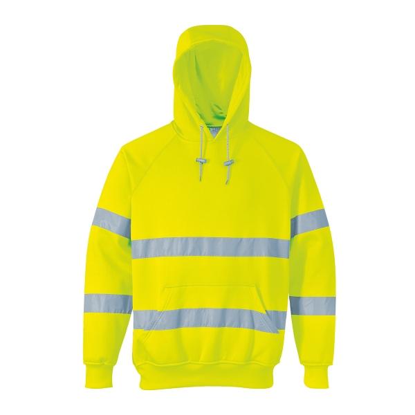 Hi-Vis Hooded Sweatshirt Class 3