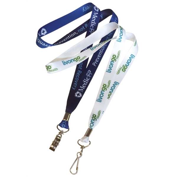 Low Minimum Made in USA Full Color Dye Sublimation Lanyard