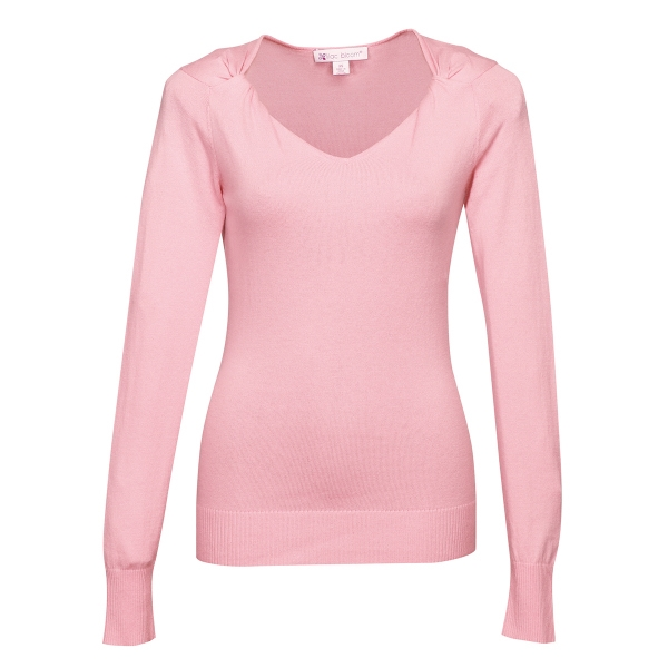Grace Women's Twisted V-Neck Sweater