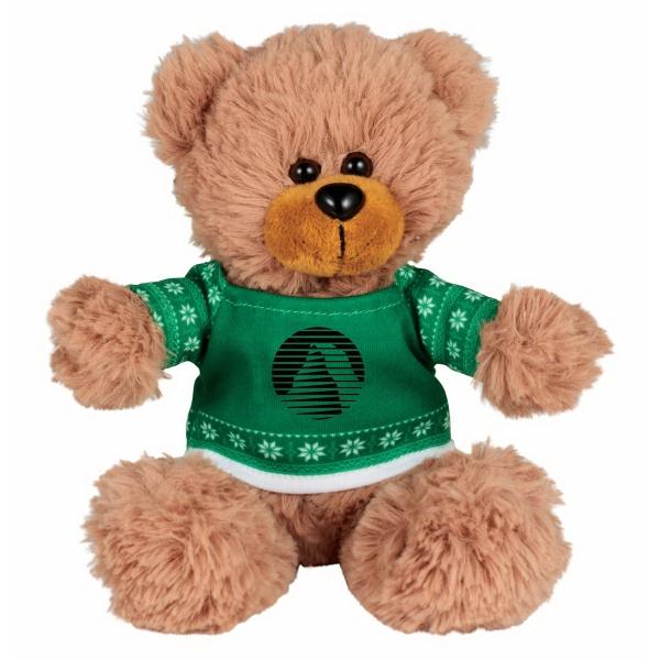 "6"" Ugly Sweater Sitting Plush Bear"