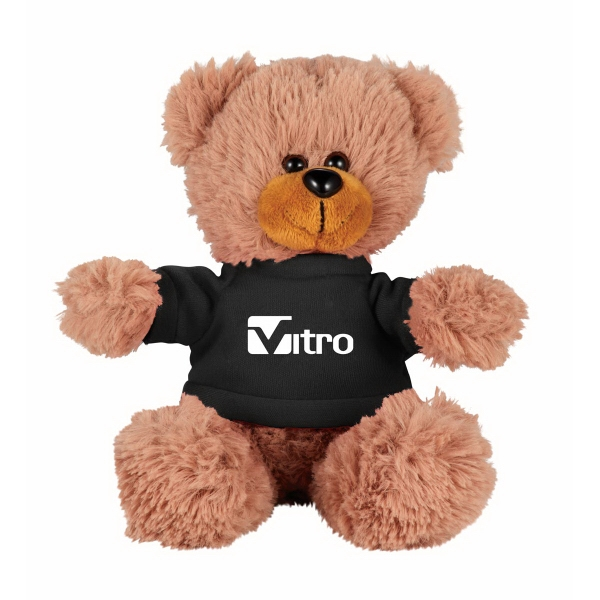 "6"" Sitting Plush Bear with Shirt"