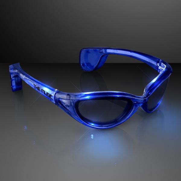 LED Blue Light Up Sunglasses