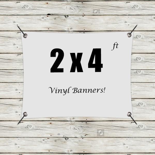 Custom 2' x 4' Vinyl Banners
