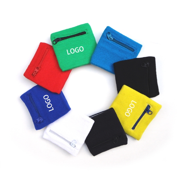 Sport Wristband With A Pocket Or Wrist Wallet