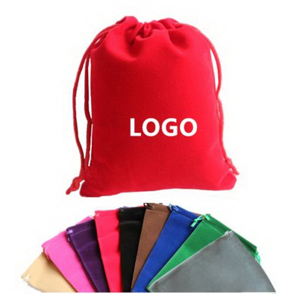 Customs Cotton Drawstring Bag Gift Packing Pouch