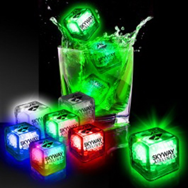 liquid activated light up led ice cubes