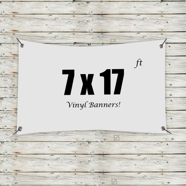Custom 7' x 17' Vinyl Banners