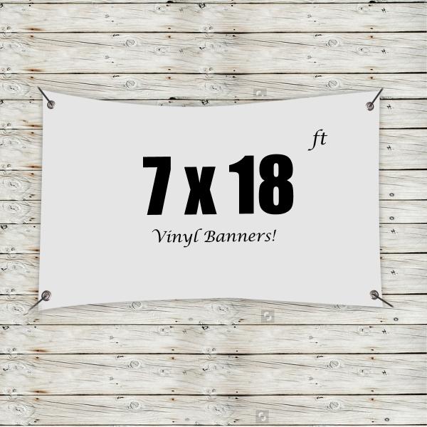 Custom 7' x 18' Vinyl Banners