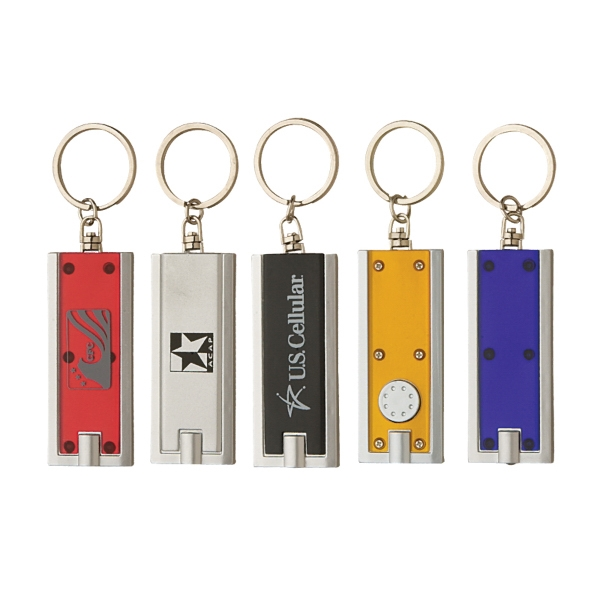 Rectangle LED Light Keyring