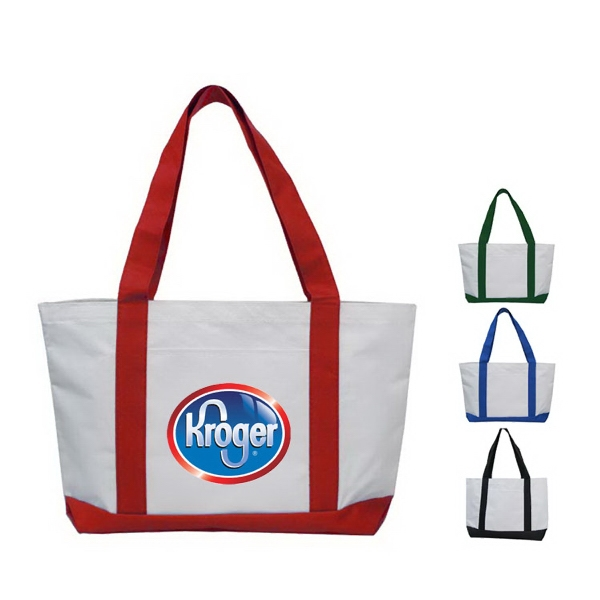 Classic Two Tone Polyester Tote