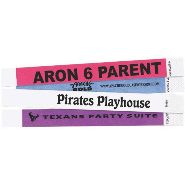 Tyvek (R) Wrist Bands - Wristbands guaranteed to stay on in the water.