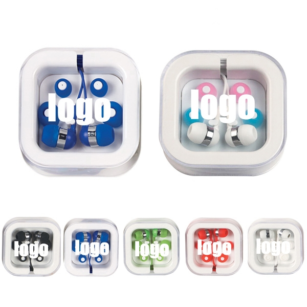 Ear buds in customized square case