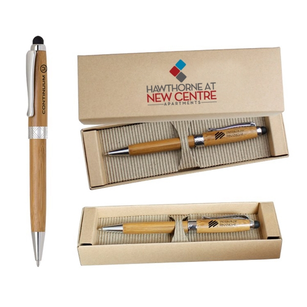 ECO Friendly Stylus Pen with Deluxe Recyclable Paper box