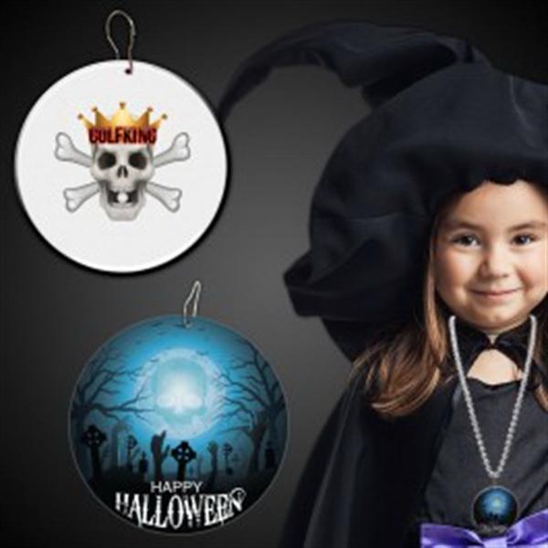 "Halloween Cemetery Plastic Medallions - 2 1/2"""