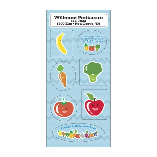 Fruit & Veggies Sticker Sheet