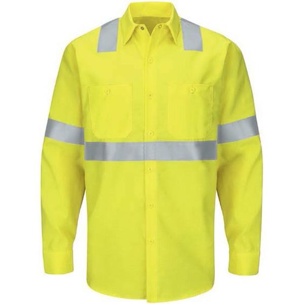 Men's Hi-Visibility Ripstop Work Shirt: Class 2 Level 2