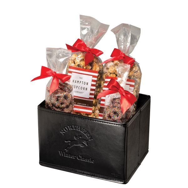 Caramel and Swirl Popcorn & Pretzels Gift Set