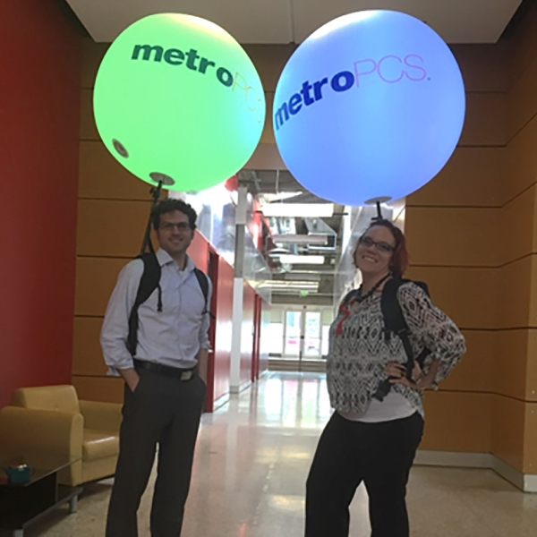 LED Light Balloon Backpack Display