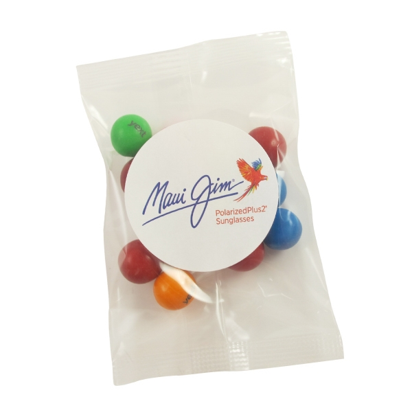 1oz. Goody Bags - Imprinted Mini Gumballs