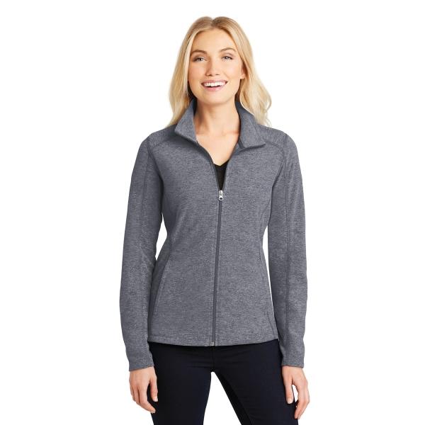 Port Authority Ladies Heather Microfleece Full-Zip Jacket.
