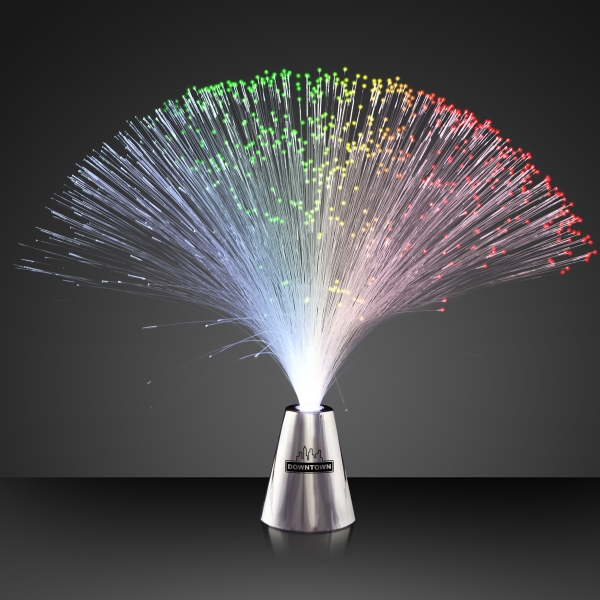 Fiber optic multicolor LED centerpiece
