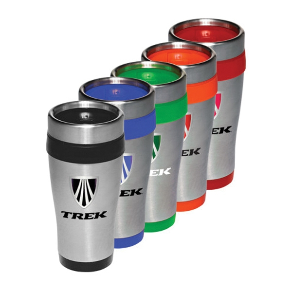 16 oz Assorted Colors Stainless Steel Travel Mug