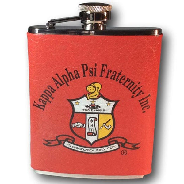 Genuine Leather Covered Stainless Steel 6 Oz. Flask