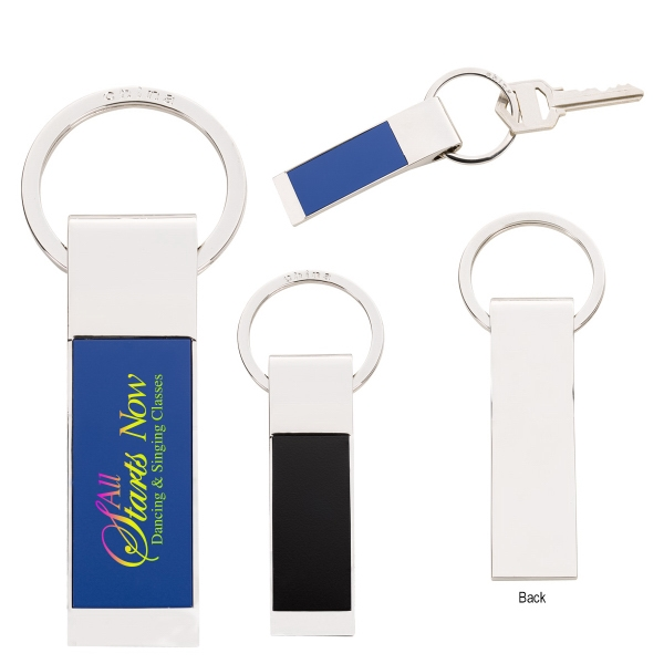 Two-Tone Rectangle Key Tag