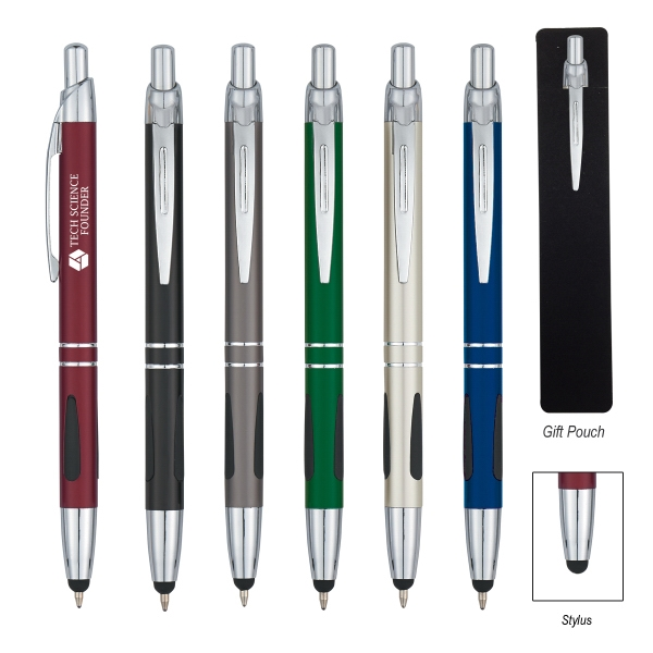 Aluminum Pen with Stylus