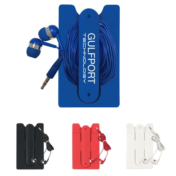 Ear Buds And Phone Wallet Kit