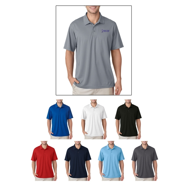 UltraClub (R) Men's Cool & Dry Mesh Pique Polo