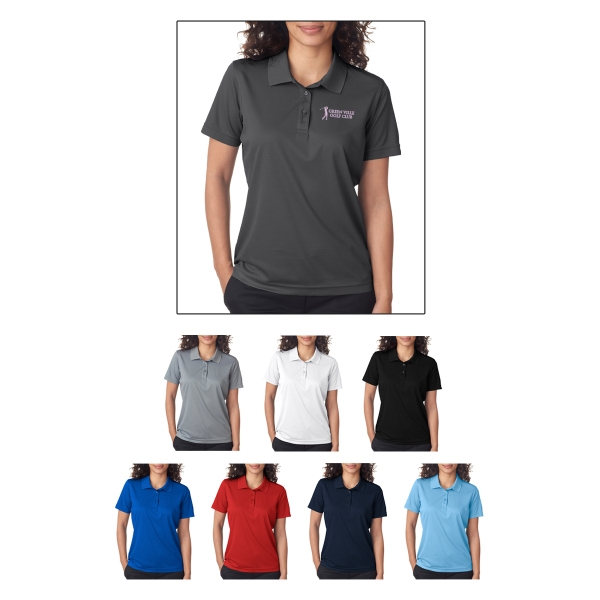 UltraClub (R) Ladies' Cool & Dry Mesh Pique Polo