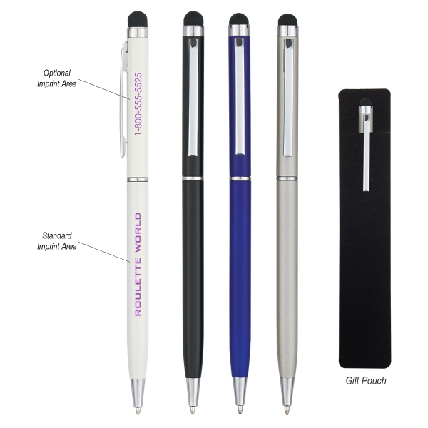 Newport Ballpoint Pen with Stylus