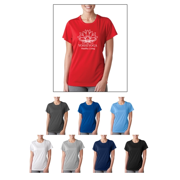 UltraClub (R) Ladies' Cool/Dry Sport Perform Interlock Tee