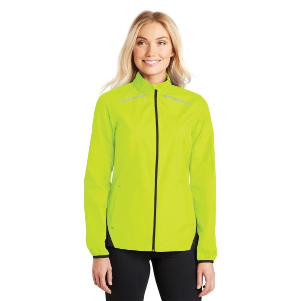 Port Authority Ladies Zephyr Reflective Hit Full-Zip Jacket.