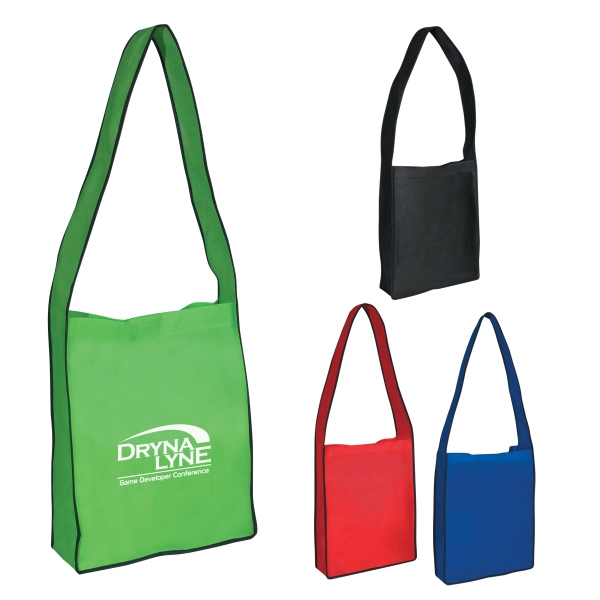 Non-Woven Messenger Tote with Velcro® Closure