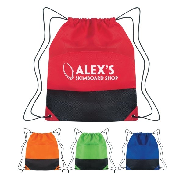 Non-Woven Two-Tone Drawstring Sports Pack