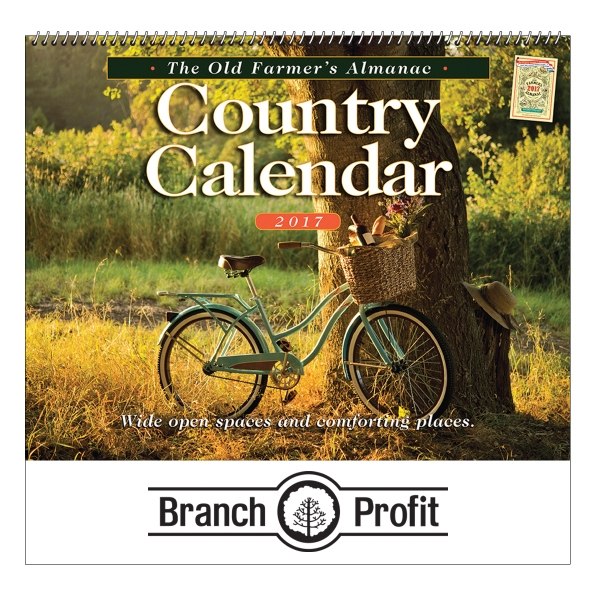 2017 The Old Farmer's Almanac Country Wall Calendar - Spiral