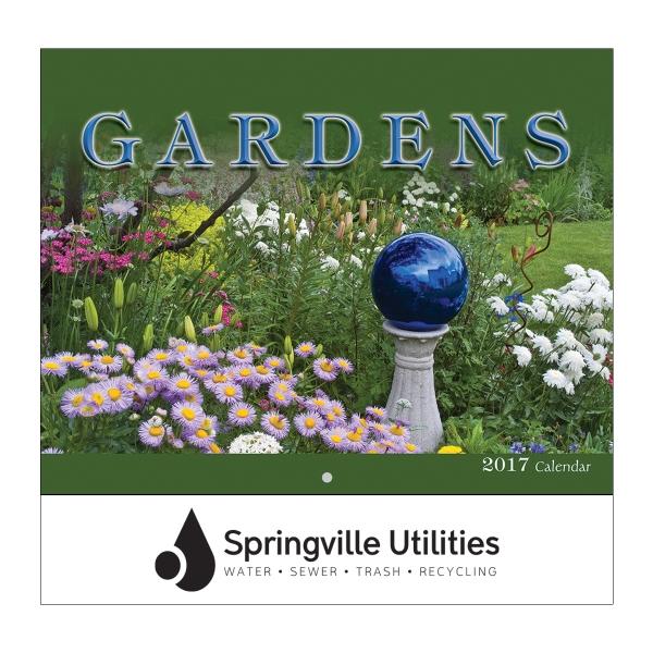 2017 Gardens Wall Calendar - Stapled